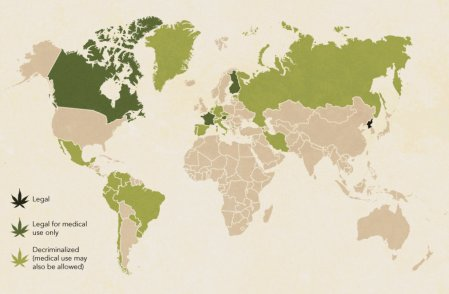 Cannabis laws around the world - Excluding Uruguay who became the first country in the world to fully legalise Cannabis this week.